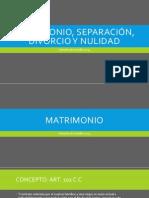 2.MATRIMONIO, SEPARACIÓN, DIVORCIO (IMPRESO)