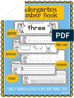 Kindergarten Number Book Number Three Day Booklet