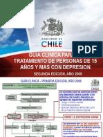 Modificaciones  2009 Guía Clínica GES Depresión