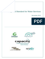 Regional Standard for Water Services