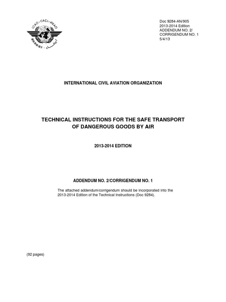 Medical abbreviation for addendum - Addendum 2 Alltext En Dangerous Goods Aviation