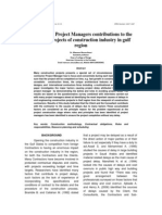 Contractors Project Managers Contributions to the Delays in Projects of Construction Industry in Gulf Countries