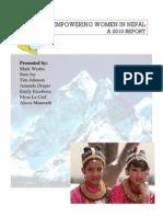 Nepal Empowering Women