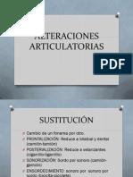 ALTERACIONES ARTICULATORIAS (3)