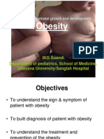 Lecture 10 Obesity (Problems of Postnatal Growth and Development)