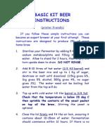 BASIC KIT BEER INSTRUCTIONS