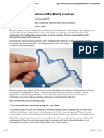 Ways to Use Facebook Effectively in Class | ZDNet