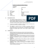 Silabo Analisis Estructural i Lmvg
