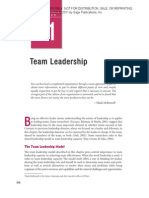 Chapter 11 Team Leadership