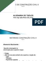 AULA 06 - ALVENARIA DE TIJOLOS CERÂMICOS - CIMENTO E SOLO CIMENTO.pptx