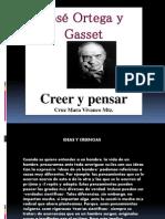 Creer y Pensar Ortega y Gasset