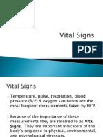 Vital Signs-Temp, PR