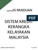 Garis Panduan Kredit Kerangka Kelayakan Malaysia