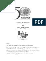 Examen de Ubicacion 2009 - Fisica