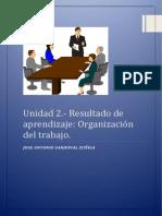 Unidad 2 Resultado de aprendizaje organización del trabajo