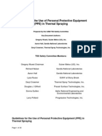 Safety1 -Guidelines for the Use of Personal Protective Equipment in Thermal Spraying