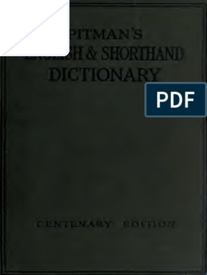 Shorthand English Pitman Dictionary Pdf Shorthand Dictionary