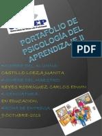 Portafolio de psicología del aprendizaje II JUANITA CASTILLO LOEZA
