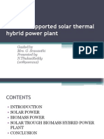 Biomass Supported Solar Thermal Hybrid Power Plant Final Ppt (1)