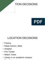 Location of facilities