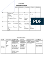 unit plan planning sheets