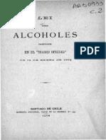 Lei Sobre Alcoholes Promulgada en El ''Diario Oficial'' de 18.Ene.1902