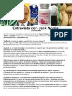 Entrevista con Jack Norris ESPAÑOL