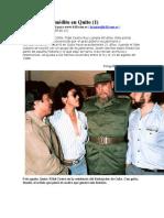 Fidel Castro, inédito en Quito