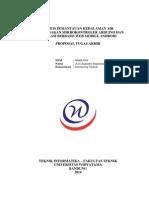 Proposal Ta (0609u094) - Sistem Notifikasi Dan Pemantauan Tingkat Ketinggian Permukaan Air Menggunakan Mikrokontroler Arduino Dan Aplikasi Berbasis Mobile Android Melalui Internet - Rev1