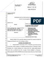 FIRST Amended Complaint (Case filed in California) for Being Fired