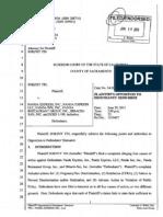Opposition to Demurrer - Filed in California