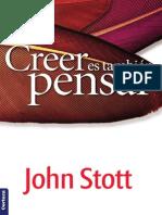 Creer es también pensar - John Stott