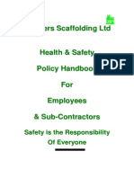 3 Borders Scaffolding, Health and Safety Policy