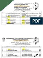 Calendario Trat de Aguas 2014-A Sem