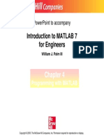 INTRODUCTION TO MATLAB CHAPTER nO.04