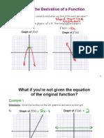 Derivative Graph Notes