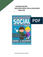 Sistematizacic3b3n Encuentro Social Por La Educacic3b3n Zona S-ur