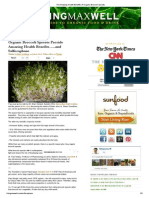The Amazing Health Benefits of Organic Broccoli Sprouts