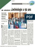 L'Avenir - la société d'archéologie à 150 ans - 12.03.14