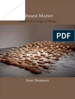 Vibrant Matter a Political Ecology of Things