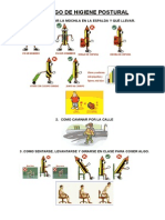 Decálogo de higiene postural