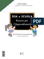 Centro Risorse Dsa e Scuola Atti Quarto Convegno 2012