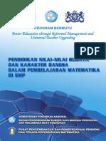 Pendidikan Nilai-Nilai Budaya Dan Karakter Bangsa Dalam Pembelajaran Matematika Di SMP