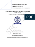 Cs2357 Ooad Lab Manual