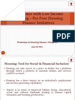 1 Experiencewith Low Income Housing Pro Poorhousing Finance Initiatives Mr.vishal