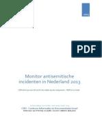 Monitor Antisemitische Incidenten 2013