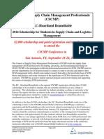 2014 CSCMP Scholarship 1