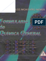 Formulario de química general - Montaño