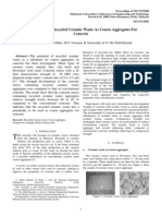 The Potential of Recycled Ceramic Waste as Coarse Aggregates for Concrete