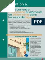 Jonction Maçonnerie-Structure